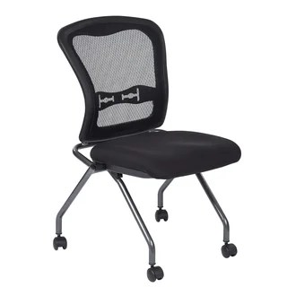 folding desk chair pottery barn napa buy stacking chairs online at overstock com our best home office pro line ii deluxe armless with progrid back