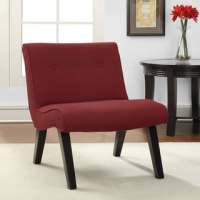 Armless Tufted Chair Steel - 12329753 - Overstock.com ...