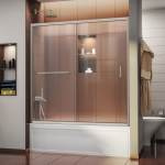 Dreamline Infinity Z 56 60 In W X 58 In H Semi Frameless Sliding Tub Door 56 60 W