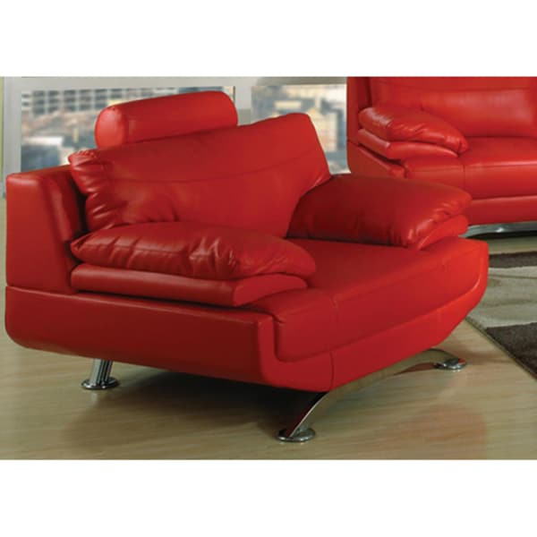 rialto black bonded leather chair monarch dining room chairs jessica red modern - free shipping today overstock.com 15357825