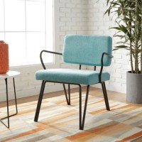 Aqua Armless Tufted Back Chair - Free Shipping Today ...
