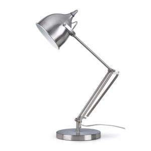 Artiva USA Silverado Contemporary Brushed Steel Metal 27.5-inch Table Lamp with Adjustable Swing Arm