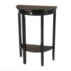 Semi Circle Sofa For Bay Window Milano Leather Bianco Collection Black Half Moon Round Hall Table