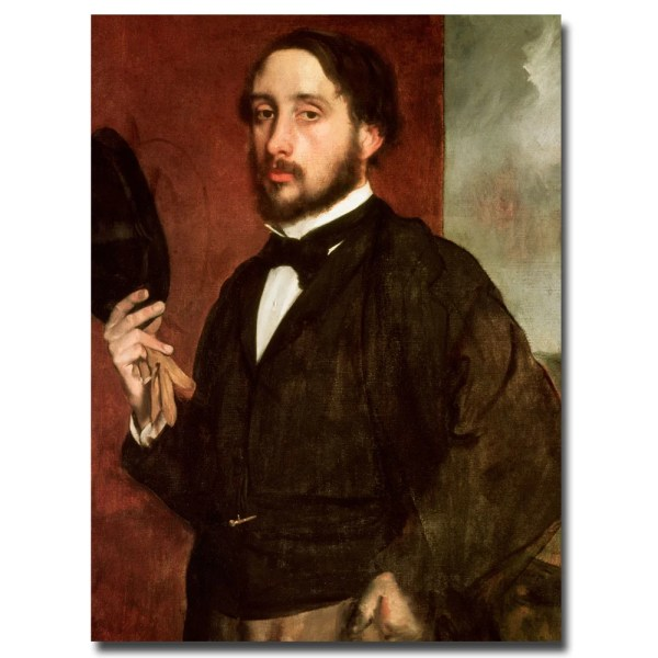 Edgar Degas ' Portrait 1862' Canvas Art