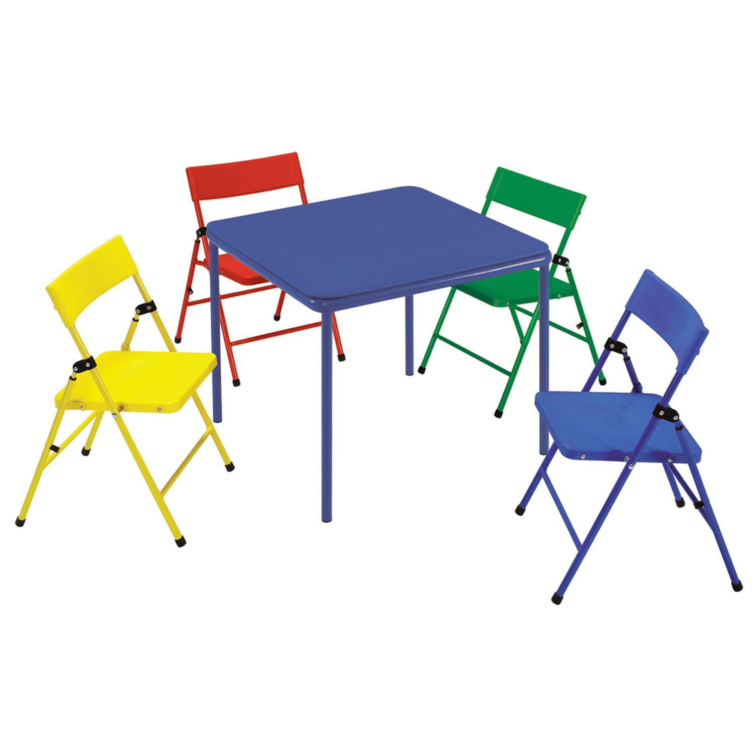 Folding Table And Chairs For Kids Cosco Kid 39s 5 Piece Colored Folding Chair And Table Set