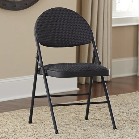 folding chair fabric rattan shop cosco seat chairs set of 4 free shipping today overstock com 8015357