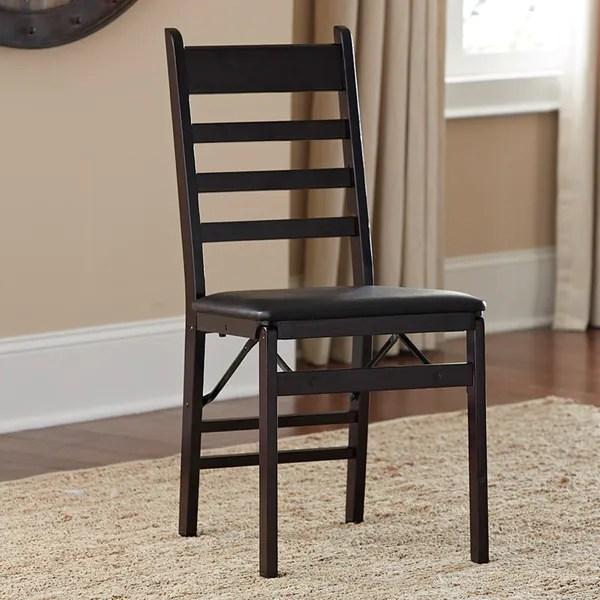 Shop Cosco Wood Ladder Back Folding Chair Set of 2