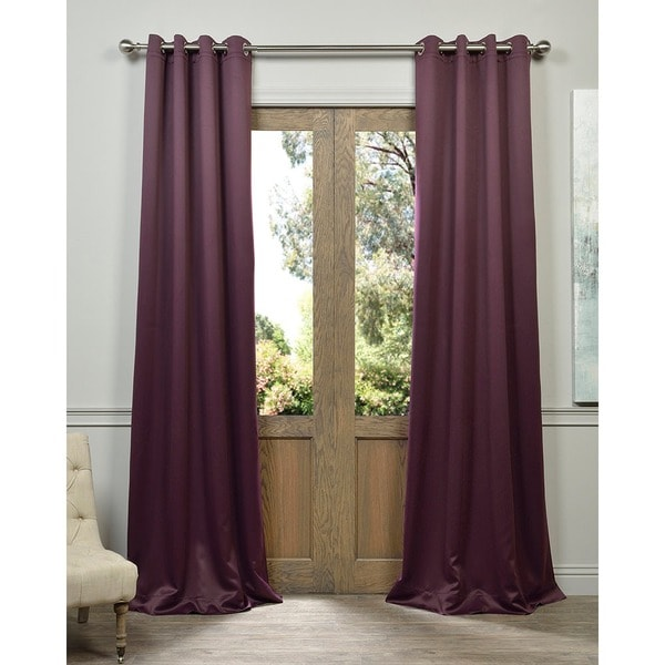 Exclusive Fabrics Grommet Blackout Thermal Aubergine Curtain Panels Set Of 2 Free Shipping