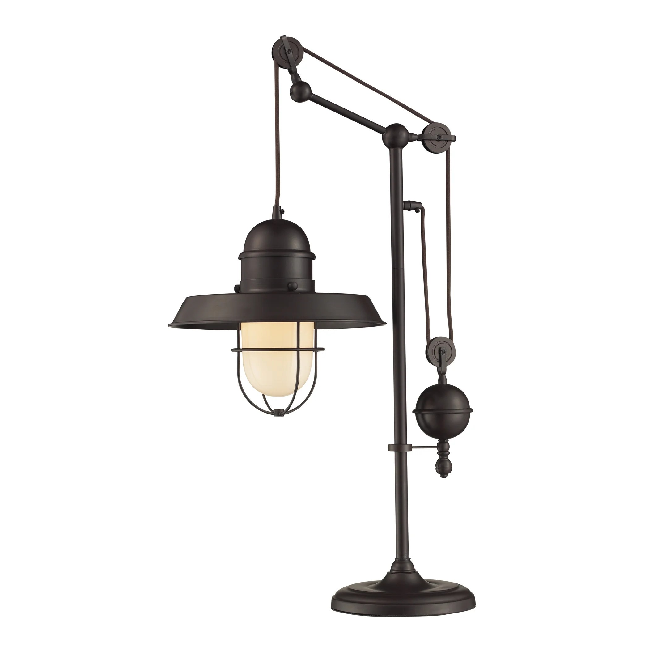 "Dimond Lighting Oil-rubbed Bronze Metal 1-light Table Lamp - 17""w x 12""d x 32""h"