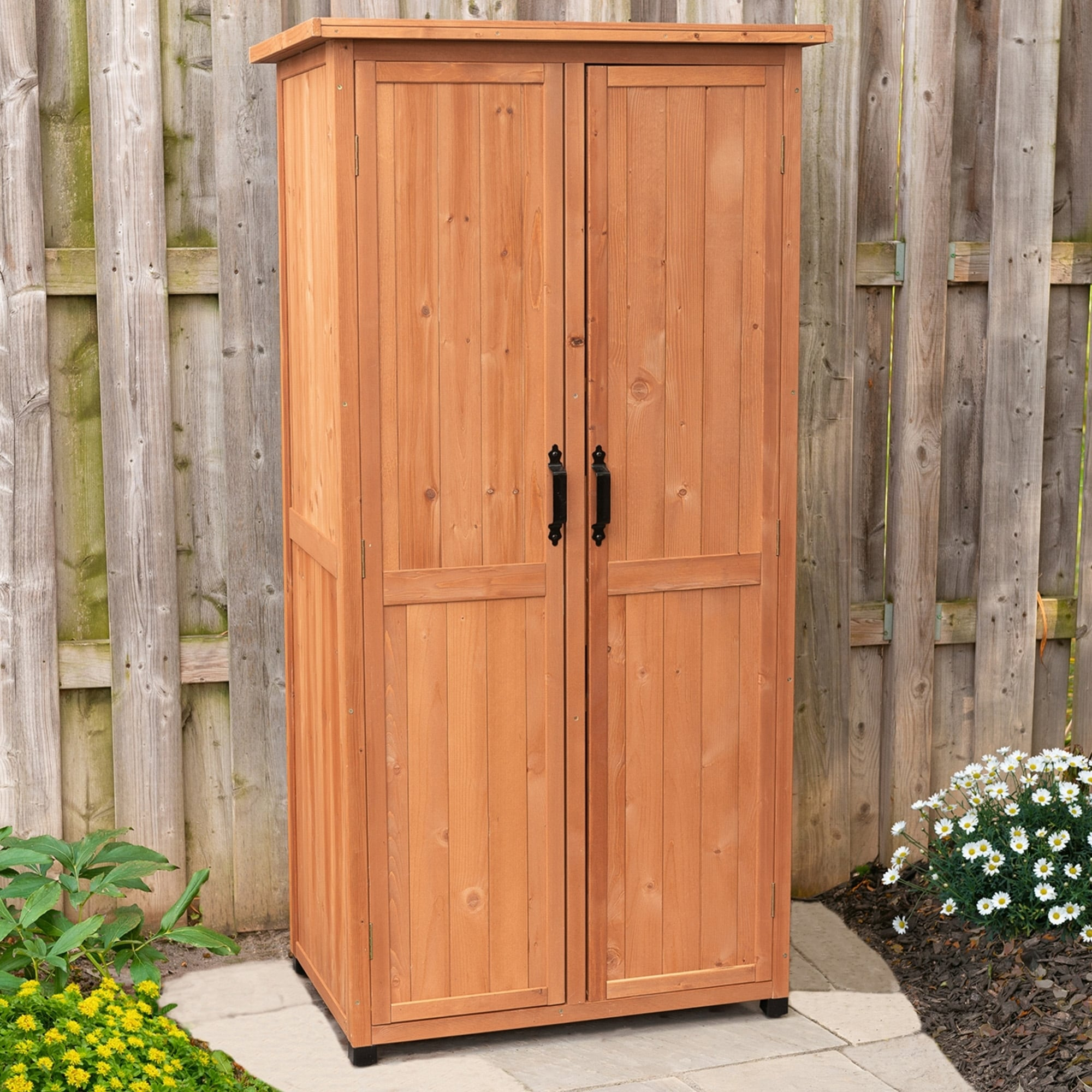 outdoor storage shed tall patio garden