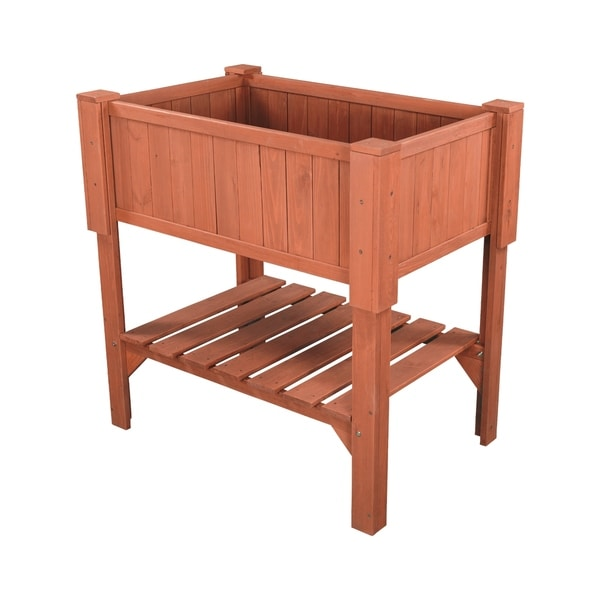 Shop Raised Planter Box Overstock 8037729