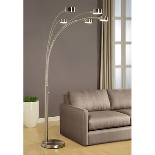 floor lamp living room kitchen divider ideas buy arc lamps online at overstock com our best lighting deals strick bolton charlie modern arched 88 inch brushed steel 5 light
