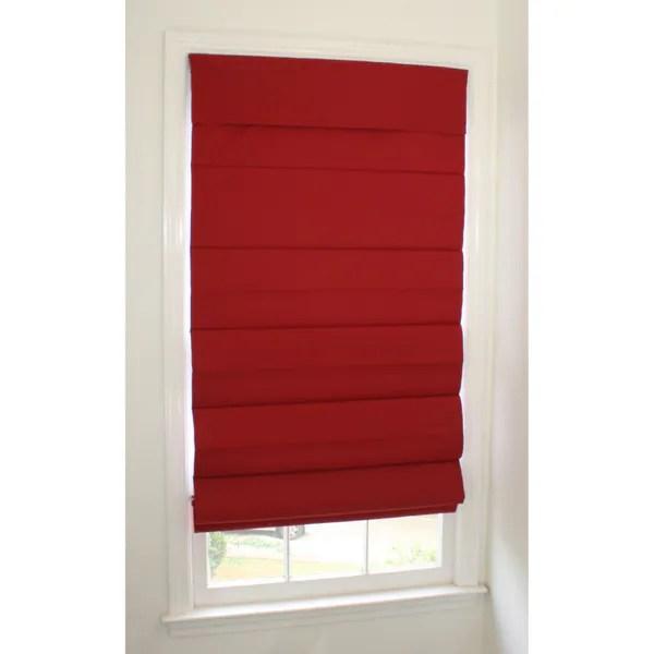Shop Roomdarkening Cordless Red Roman Window Shade  Free