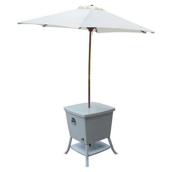 Outdoor Cooler Table With Umbrella  15415217  Overstockcom Shopping  Big Discounts on Coffee  Side Tables