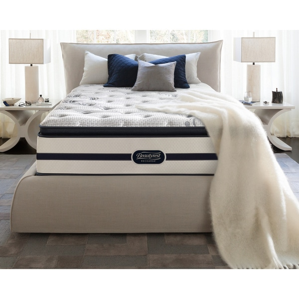 Beautyrest Recharge Maddyn Plush Pillow Top Queensize Mattress Set  Free Shipping Today