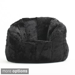 big joe lounge chair inflatable kids beansack 'big milano' faux fur bean bag