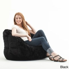 Big Joe Milano Bean Bag Chair 2 Chairs And Table Beansack 'big Milano' Faux Fur - 15418167 Overstock.com Shopping ...