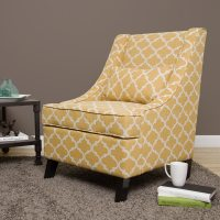 Swoop French Yellow Trellis Arm Chair - Free Shipping ...