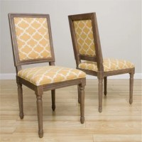 Dahlia Antique French Yellow Trellis Dining Chairs (Set of ...