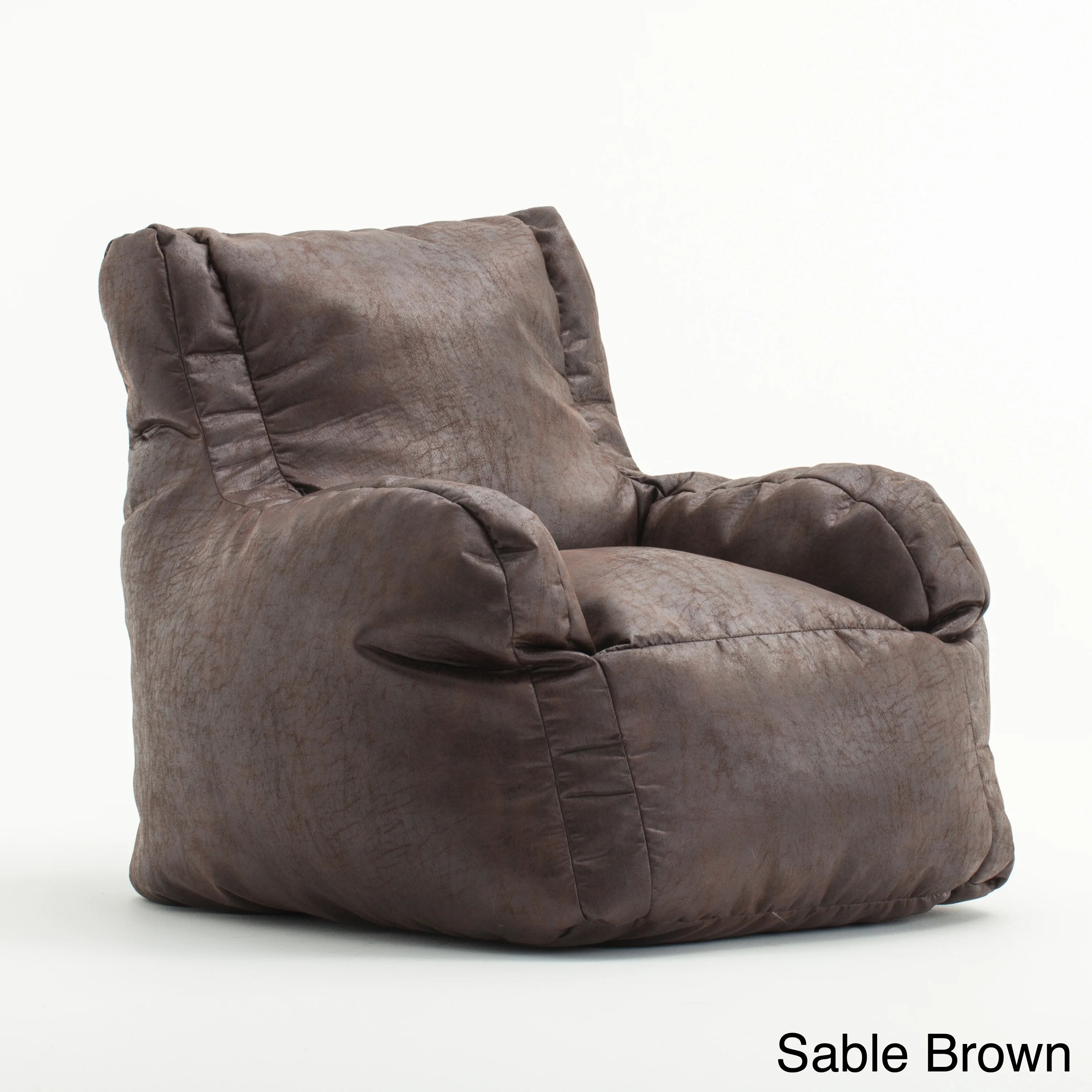 restoration hardware beanbag chair accent for sale brown faux leather sofa bean bag baci living room