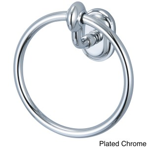 Water Creation Elegant Matching Glass Series Towel Ring in Chrome Finish
