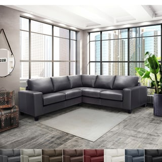 sectional sofa purchase leather sofas with recliners buy online at overstock com our best paulina top grain italian