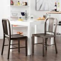 Vintage Metal Dining Chairs (Set of 2) - Free Shipping ...