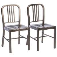 Vintage Metal Side Chairs (Set of 2) - Free Shipping Today ...