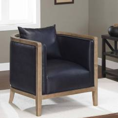 Navy Blue Leather Club Chair How To Measure For Slipcover Manning Bonded Overstock