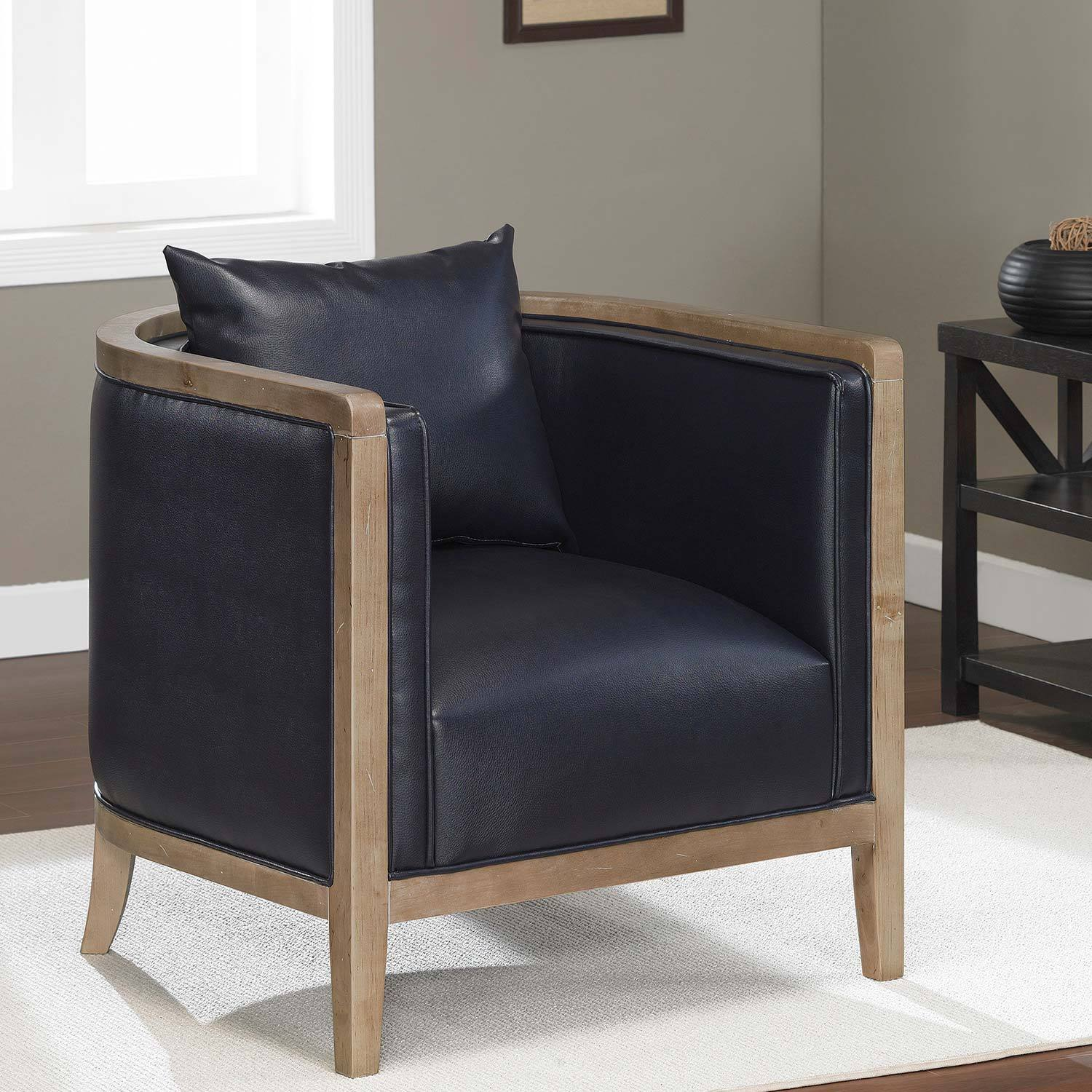 Navy Club Chair Manning Navy Blue Bonded Leather Chair Overstock