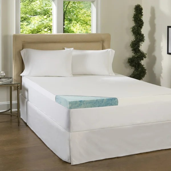 Comforpedic Loft From Beautyrest 3 Inch Supreme Gel Memory Foam Mattress Topper With Cover