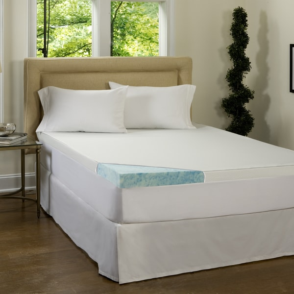 Comforpedic Loft From Beautyrest 4 Inch Gel Memory Foam Mattress Topper With Waterproof Cover