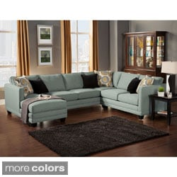 Fabric Sectional Sofas Shop The Best Brands Overstock Com