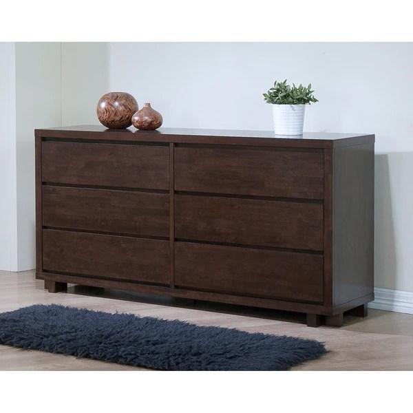 Shop Harvey Wenge 6drawer Bedroom Dresser  Free Shipping
