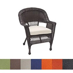 wicker chair for sale garden egg uk shop espresso cushion set of 4 free shipping today overstock com 8174526