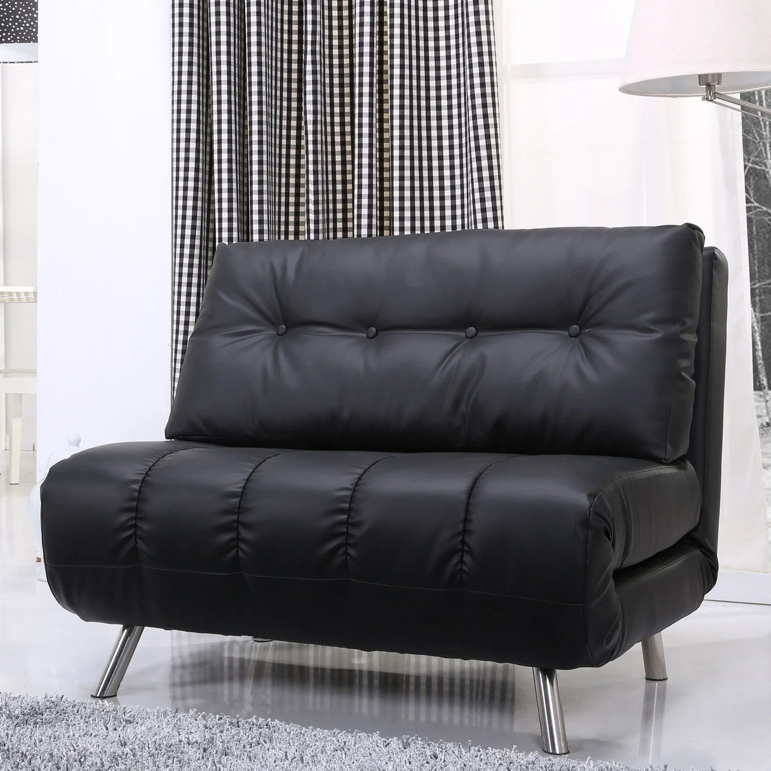 Chair That Converts To A Bed Gold Sparrow Tampa Black Convertible Big Chair Bed
