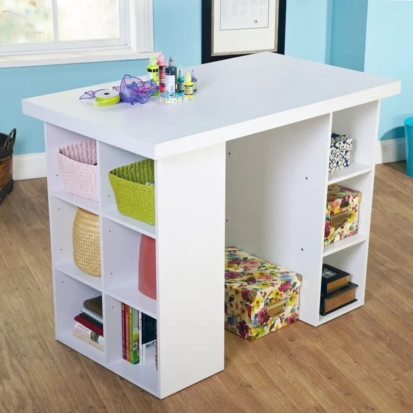 Shop Simple Living Counter Height Craft Desk Overstock 8199442