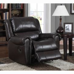 Best Chairs Inc Recliner Reviews Chair Covers For Office Shop Brody Brown Italian Leather Rocker - Free Shipping Today Overstock.com ...