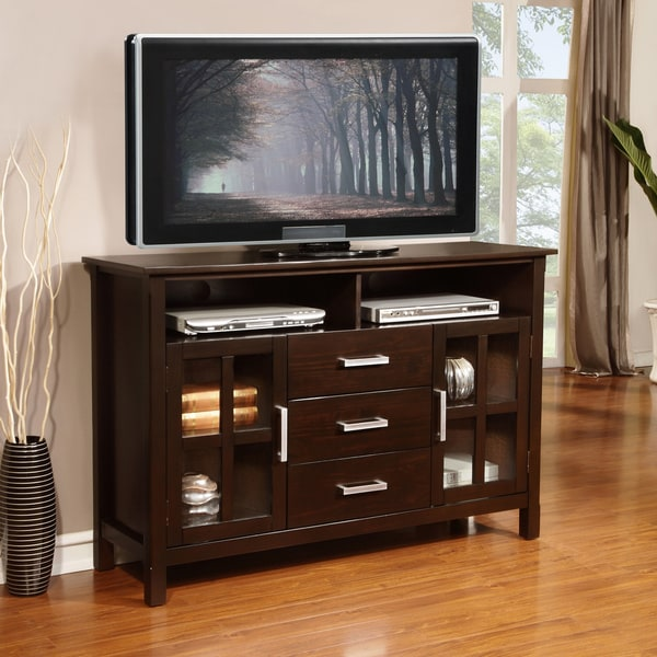 Waterloo Walnut Brown Tall TV Stand  Overstock Shopping  Great Deals on WyndenHall
