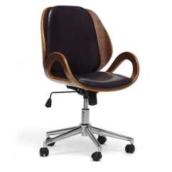 Office Chair Overstock Distressed Metal Chairs Watson Walnut And Black Modern
