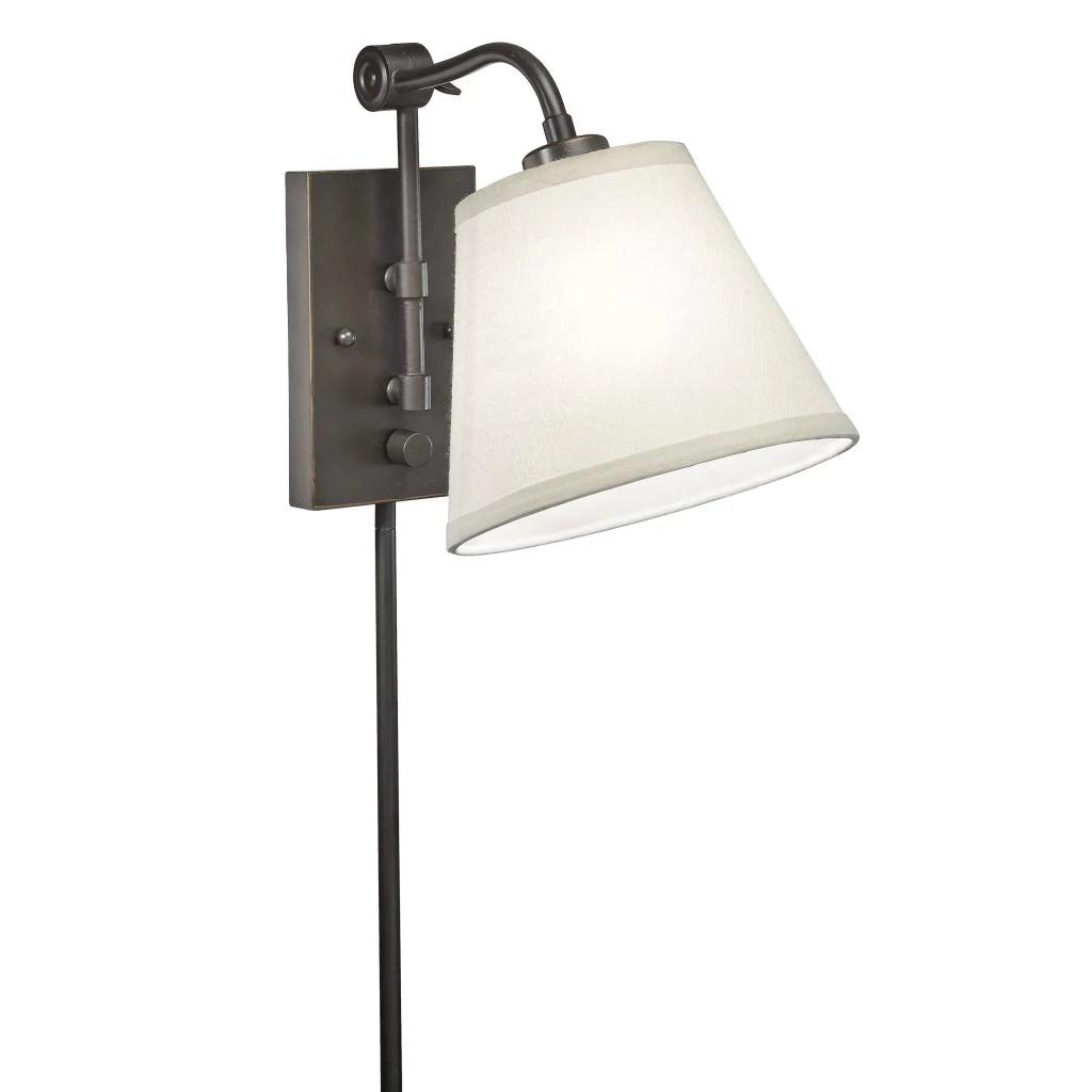 Swing Arm 1light Plugin Bronze Wall Lamp  Overstock Shopping  Top Rated Sconces  Vanities