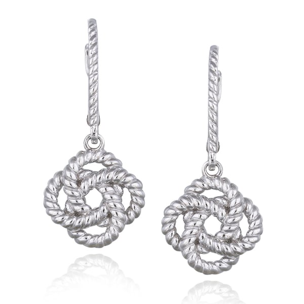Shop Mondevio Sterling Silver Rope Design Love Knot Flower