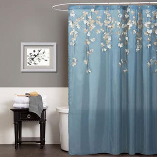 Blue Shower Curtains Overstock Com Vibrant Fabric Bath Curtains
