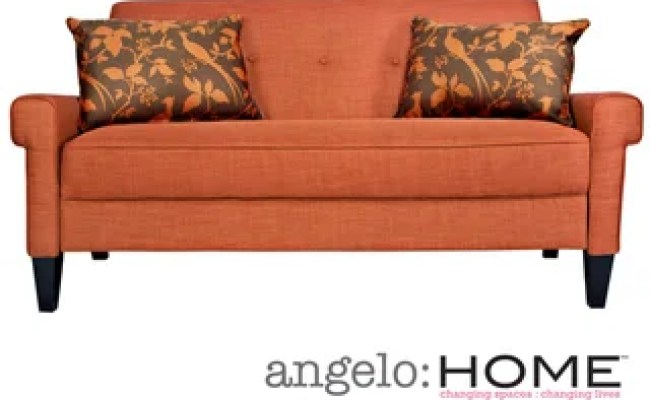 Angelo Home Ennis California Vintage Orange Sofa