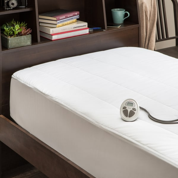 Sunbeam Quilted Poly Twin Xl Heated Electric Mattress Pad