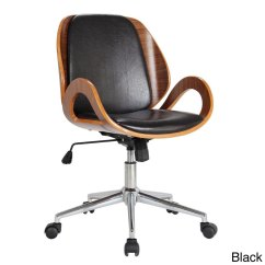 Office Chair Overstock Covers 39rika 39 Stained Bentwood Upholstered Desk