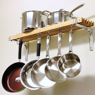 pot racks for kitchen home depot painting cabinets buy online at overstock com our best storage deals cooks standard wall mounted wooden rack 36 by 8 inch