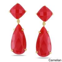 Shop Miadora Gemstone Dangle Earrings - Free Shipping On ...