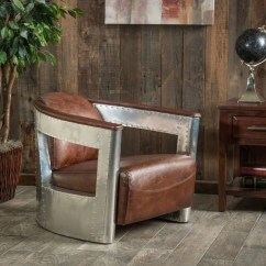 Christopher Knight Club Chair Diy Bows Natasha Brown Leather And Metal By Home - Free Shipping Today ...