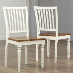 Oak And White Dining Chairs Rocking Chair Legs Shop Antique Set Of 2 Free Shipping Today Overstock Com 8286045